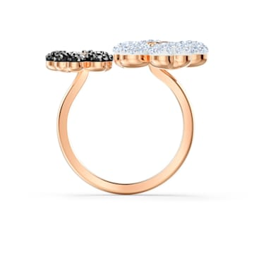 Latisha Ring, Black, Rose-gold tone plated - Swarovski, 5520947