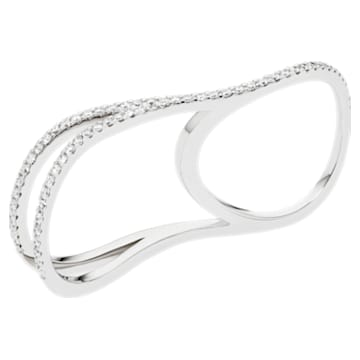 Arc-en-ciel Double Ring, 18K White Gold, Size 52 - Swarovski, 5521031