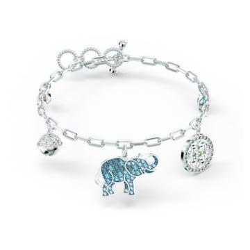 Swarovski Symbolic Elephant Armband, mehrfarbig hell, rhodiniert - Swarovski, 5521444