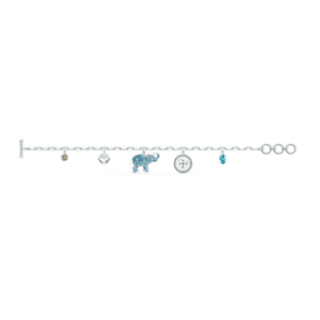 Swarovski Symbolic Elephant Bracelet, Light multi-coloured, Rhodium plated - Swarovski, 5521444