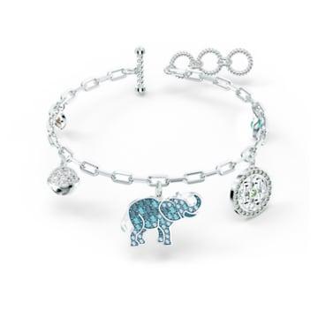 Braccialetto Swarovski Symbolic Elephant, multicolore chiaro, placcato rodio - Swarovski, 5521444