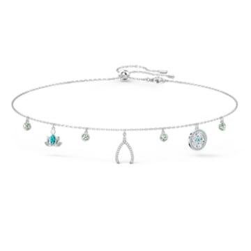 Swarovski Symbolic Charm Necklace, Light multi-colored, Rhodium plated - Swarovski, 5521449