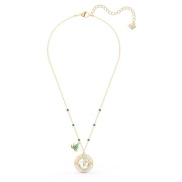 Swarovski Symbolic Lotus medál, zöld, arany árnyalatú bevonattal - Swarovski, 5521451