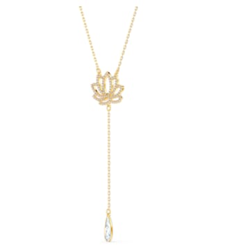 Swarovski Symbolic Lotus 項鏈, 白色, 鍍金色色調 - Swarovski, 5521468