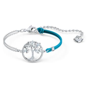 Bracelet Swarovski Symbolic Tree of Life, bleu, métal rhodié - Swarovski, 5521494