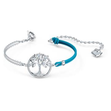 Swarovski Symbolic Tree of Life Armband, blau, rhodiniert - Swarovski, 5521494