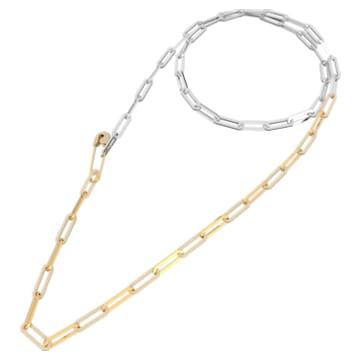 Collar So Cool, blanco, combinación de acabados metálicos - Swarovski, 5521723