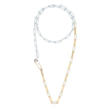 Colar So Cool, branco, acabamento em vários metais - Swarovski, 5521723
