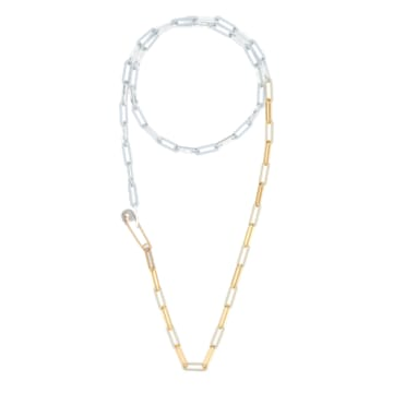 Collier So Cool, blanc, finition mix de métal - Swarovski, 5521723
