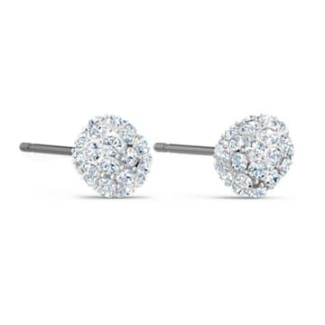 Boucles d'oreilles clous So Cool, blanc, métal rhodié - Swarovski, 5521735