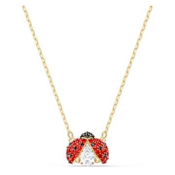 Swarovski Sparkling Dance Ladybug 네크리스, 레드, 골드 톤 플래팅 - Swarovski, 5521787