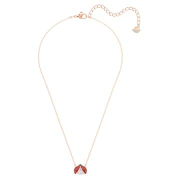 Swarovski Sparkling Dance Ladybug nyaklánc, piros, arany árnyalatú bevonattal - Swarovski, 5521787