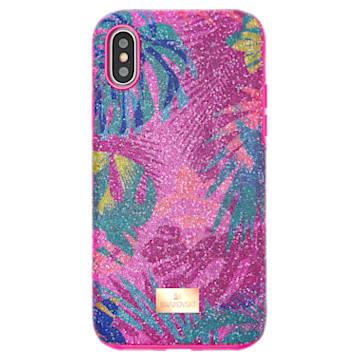 Custodia per smartphone con bordi protettivi Tropical, iPhone® X/XS, multicolore scuro - Swarovski, 5522096