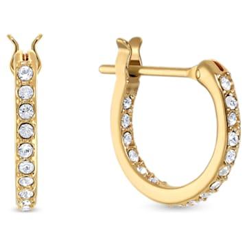 Argolas para orelhas furadas Fit Wonder Woman, douradas, acabamento em vários metais - Swarovski, 5522301