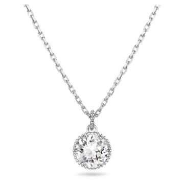 Pendentif Birthstone, avril, blanc, métal rhodié - Swarovski, 5522775