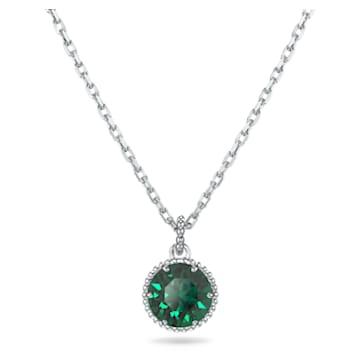 Birthstone Pendant, May, Green, Rhodium plated - Swarovski, 5522776