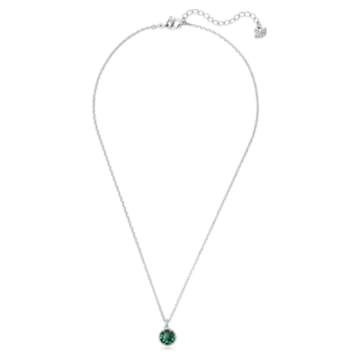 Birthstone 链坠, 五月, 绿色, 镀铑 - Swarovski, 5522776