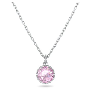 Birthstone Anhänger, Juni, rosa, rhodiniert - Swarovski, 5522778