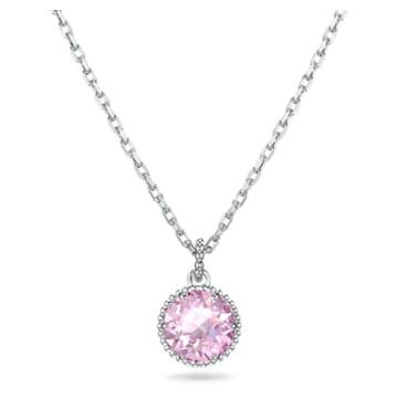 Wisiorek z kamieniem przypisanym do miesiąca urodzin, czerwiec, różowy, powlekany rodem - Swarovski, 5522778