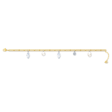 Bracelet So Cool Charm, blanc, finition mix de métal - Swarovski, 5522861