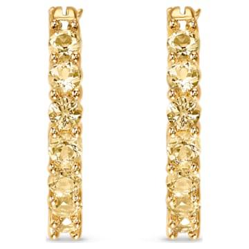 Τρυπητά σκουλαρίκια κρίκοι Bella, χρυσή απόχρωση, επιχρυσωμένα - Swarovski, 5522880
