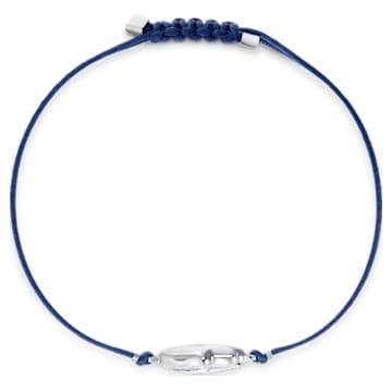 Swarovski Power-kollekció Hamsa Hand karkötő, kék, nemesacél - Swarovski, 5523154