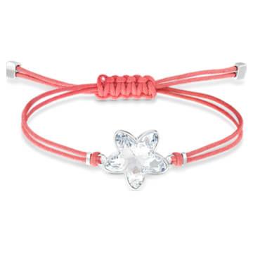 Swarovski Power-kollekció Flower karkötő, piros, nemesacél - Swarovski, 5523170