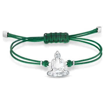 Swarovski Power Collection Buddha Bracelet, Green, Stainless steel - Swarovski, 5523173