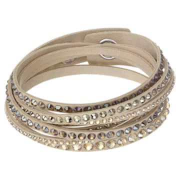 Slake Deluxe bracelet, Beige, Gold-tone plated - Swarovski, 5523636