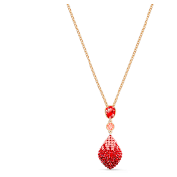 Fun Pendant, Red, Gold-tone plated - Swarovski, 5524053