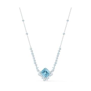 Sparkling-ketting, Aqua, Rodium-verguld - Swarovski, 5524137