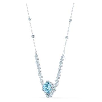 Collier Sparkling, aiguemarine turquoise, métal rhodié - Swarovski, 5524137
