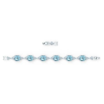 Sparkling 手鏈, 海藍色, 鍍白金色 - Swarovski, 5524142