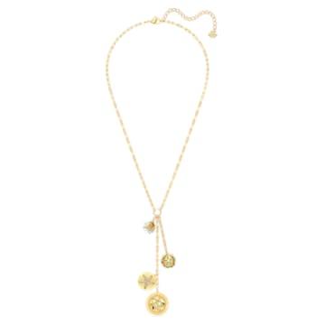 Shine Y形项链, 浅色渐变, 镀金色调 - Swarovski, 5524186