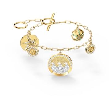 Shine Coins bracelet, Multicolored, Gold-tone plated - Swarovski, 5524188