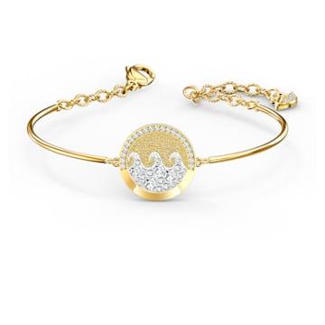 Shine Wave Bangle, Light multi-colored, Gold-tone plated - Swarovski, 5524191