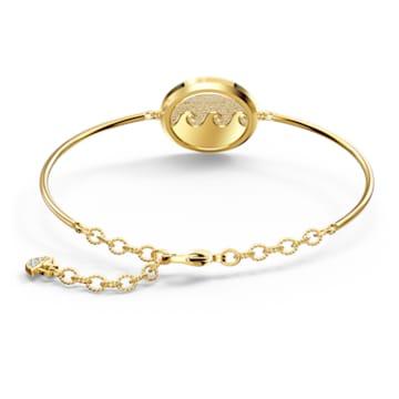Shine Wave bangle, Multicoloured, Gold-tone plated - Swarovski, 5524191