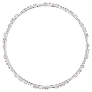 Moonsun Bangle Set, White, Rhodium plated - Swarovski, 5524267