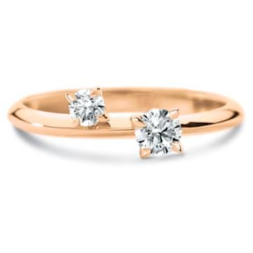 Intimate Delicate Ring, Swarovski Created Diamonds, 18K Rose Gold, Size 55 - Swarovski, 5524684