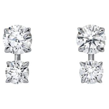 Intimate Stud Earrings, Swarovski Created Diamonds, 18K White Gold - Swarovski, 5524688