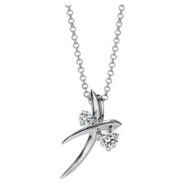 Encounter Delicate Necklace, Swarovski Created Diamonds, 18K White Gold - Swarovski, 5524699