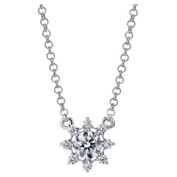 Bloom Pointed Necklace, Swarovski Created Diamonds, 18K White Gold - Swarovski, 5524702