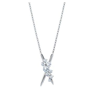 Encounter Necklace, Swarovski Created Diamonds, 18K White Gold - Swarovski, 5524710