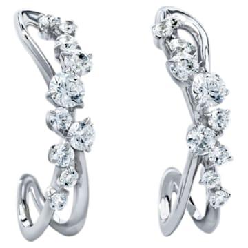 Encounter Earrings, Swarovski Created Diamonds, 18K White Gold - Swarovski, 5524715