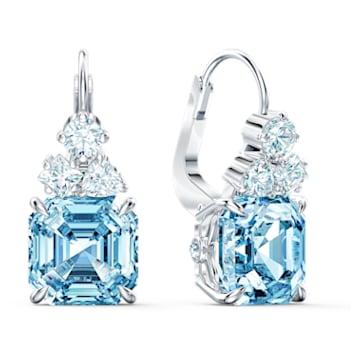 Parure Sparkling, aiguemarine turquoise, métal rhodié - Swarovski, 5525354