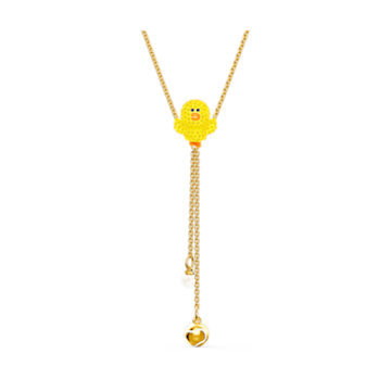Line Friends Tennis Y Necklace, Yellow, Gold-tone plated - Swarovski, 5525823