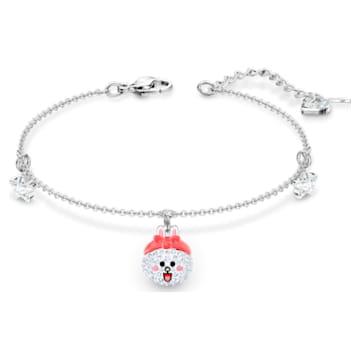Line Friends Healthy Bracelet, Light multi-colored, Rhodium plated - Swarovski, 5525824