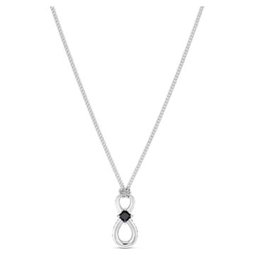Μενταγιόν Swarovski Infinity, μαύρο, επιροδιωμένο - Swarovski, 5528109