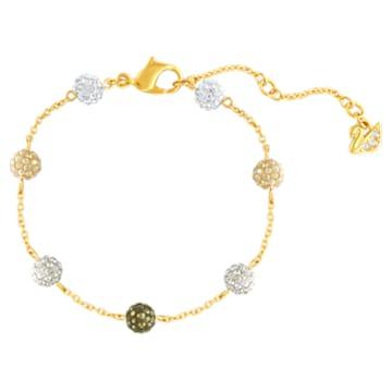 Blow bracelet, Multicoloured, Gold-tone plated - Swarovski, 5528202