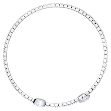 Bracciale rigido Twisty, bianco, Placcatura rodio - Swarovski, 5528443
